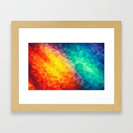Abstract Multi Color Cubizm Painting Framed Art Print