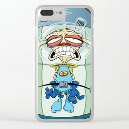 Ren's Launch! Ren and Stimpy Show Clear iPhone Case
