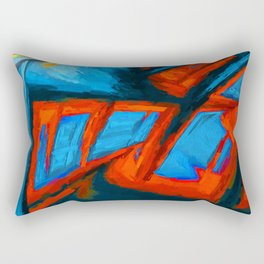 Order. Abstract Art by Tito Rectangular Pillow