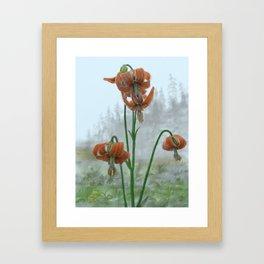 Misty Mountain Sentinels Framed Art Print