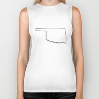 oklahoma Biker Tanks featuring Oklahoma by mrTidwell