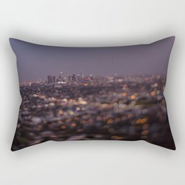 Angel City Lights (L.A. at Night) Rectangular Pillow