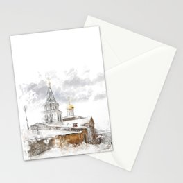 Russian landscape Stationery Cards