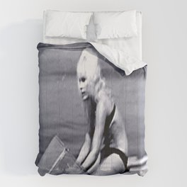 Actress Elke Sommer in the Cote d'Azur 1960's Comforters