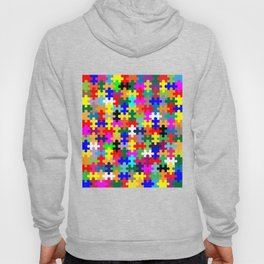 Jigsaw Pieces In Colour Hoody