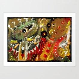 Fragmented Mind #001 Art Print