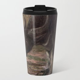 Vintage Water Buffalo Painting (1909) Travel Mug