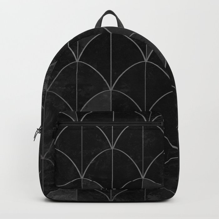 Mermaid scales in black and white. Backpack