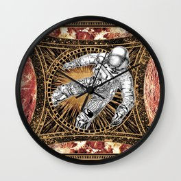 Space Fall of the Astronaut in the Universe Wall Clock