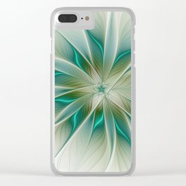 Floral Lights, Abstract Fractal Art Clear iPhone Case