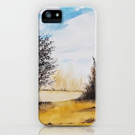 Across the Field iPhone Case