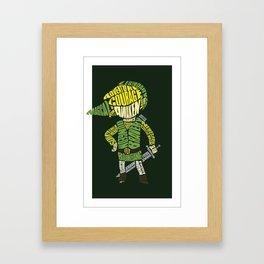 A Brave Hero Framed Art Print