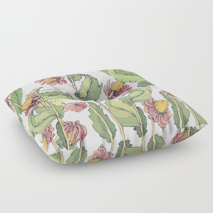 cute flowers Floor Pillow