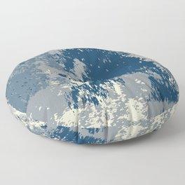 Blue Beige Watercolor Floor Pillow
