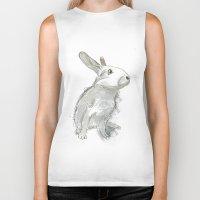 rabbit Biker Tanks featuring Rabbit by Melissa McGill