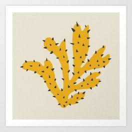 Matisse Inspired Yellow Shape Art Print