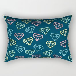 Shine Bright Like a Diamond - Navy Rectangular Pillow