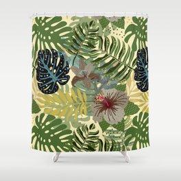 My abstract Aloha Jungle Garden Shower Curtain
