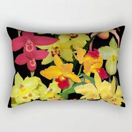 Orchids - Hot Colors! Rectangular Pillow