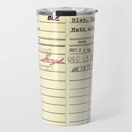 LibraryCard 510 Math Without Numbers Travel Mug