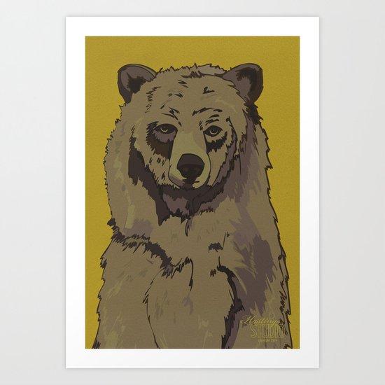 Sitting Bear  Art Print
