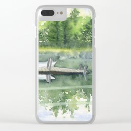 A Summer Pond Clear iPhone Case