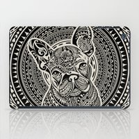 frenchie iPad Cases featuring Polynesian  Frenchie by Huebucket