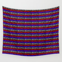 French Revolution Typographic Pattern Design Wall Tapestry