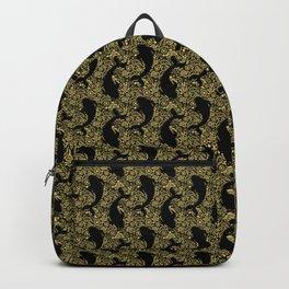 Koi Fish Black and Gold Backpack