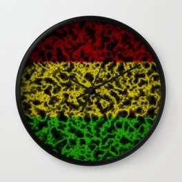 Electric Rasta Wall Clock