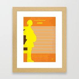 No326 My JUNO minimal movie poster Framed Art Print