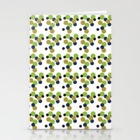 gold dots Stationery Cards featuring Dots by Laura Huebner