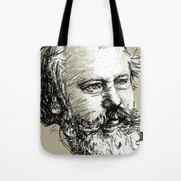 Johannes Brahms BW Tote Bag