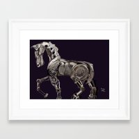 steam punk Framed Art Prints featuring Steam Punk Horse by tgronberg