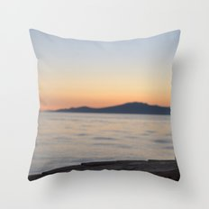 just beyond the ledge Throw Pillow