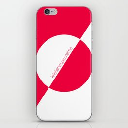 coral/white circle oblique iPhone Skin