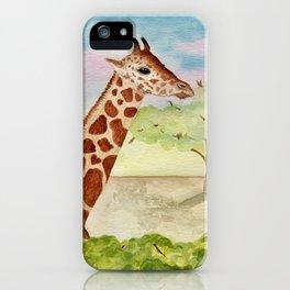 Watercolor Giraffe Illustration iPhone Case