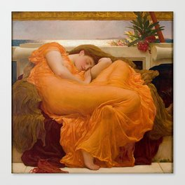 FLAMING JUNE - FREDERIC LEIGHTON Canvas Print