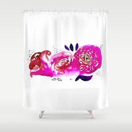 Three Purple Christchurch Roses Shower Curtain