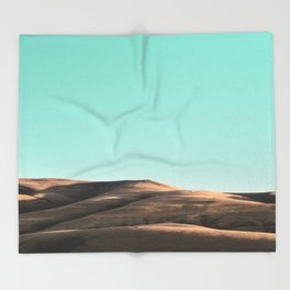 In The Distance - Turquoise Nature Photography Throw Blanket