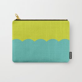 Scalloped - Turquoise & Lemongrass Carry-All Pouch