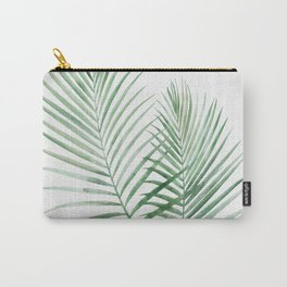 Twin Tropical Palm Fronds - Emerald Green Carry-All Pouch