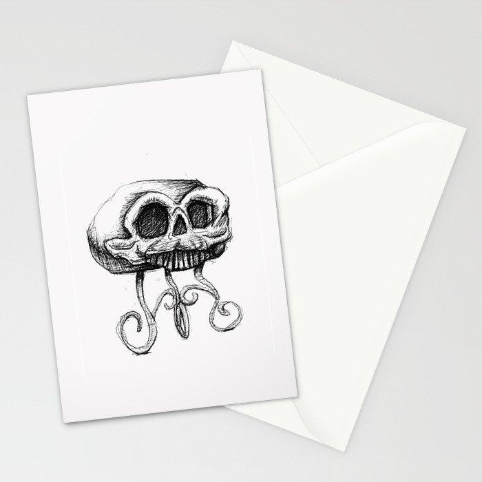 MANTLE skull Stationery Cards