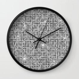 Shiny Disco Ball Silver Wall Clock