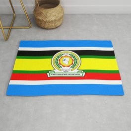 flag of East African Community or EAC Rug