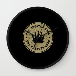 Greater Good (gold) Wall Clock