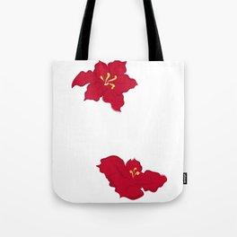 Poinsettia - red Tote Bag