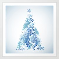 christmas tree Art Prints featuring Christmas Tree by MaNia Creations