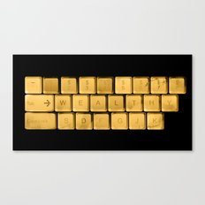 The WEALTHY Keyboard Canvas Print