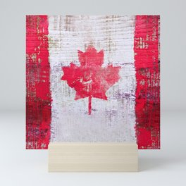 Canadian Flag Painting Tote Bag Abstract Maple Leaf Canada Mini Art Print